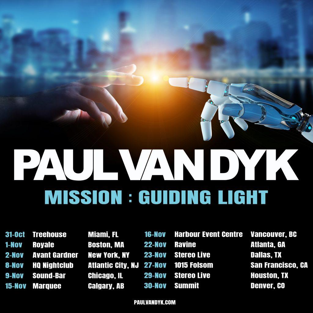 Paul van Dyk Mission: Guiding Light Tour 2019